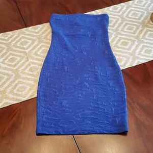 MATERIAL GIRL BLUE TUBE DRESS